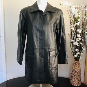 Newport News Women's Leather Black Jacket